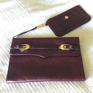 Rebecca Minkoff Leather Clutch & Coin Purse